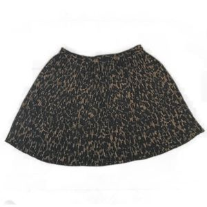 H&M Cheetah pleated skirt
